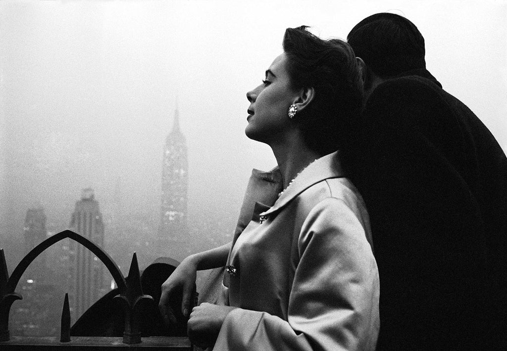 Model Drusilla Beyfus. New York City, 1956.
