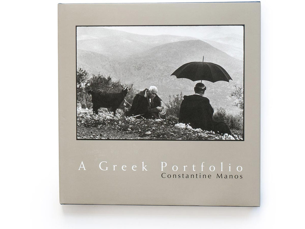 A Greek Portfolio book signed by Constantine Manos
