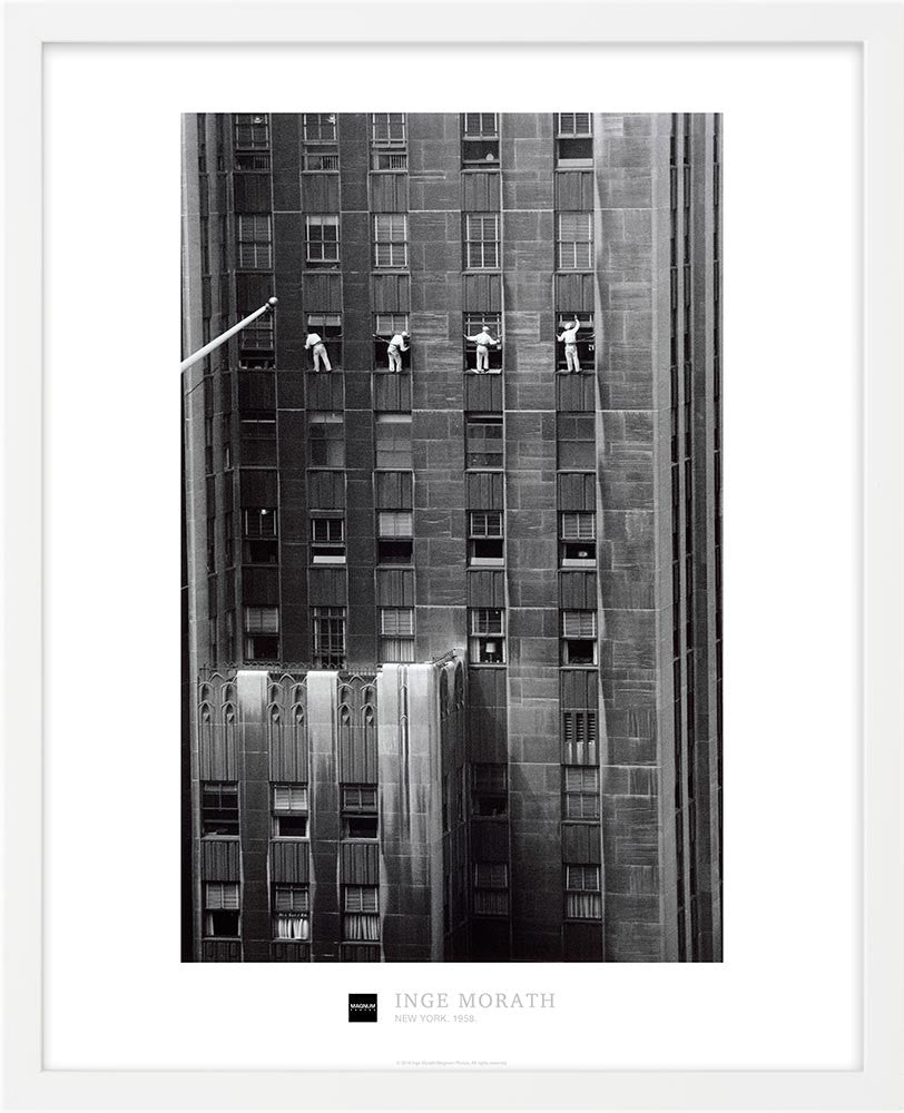 Magnum Collection Poster: Window Washers. New York City. 1958.