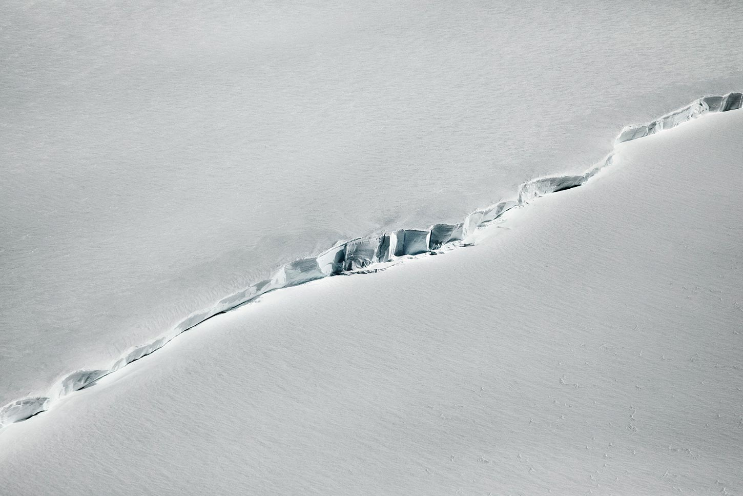 NASA IceBridge flight surveying climate change. Antarctica. 2017.