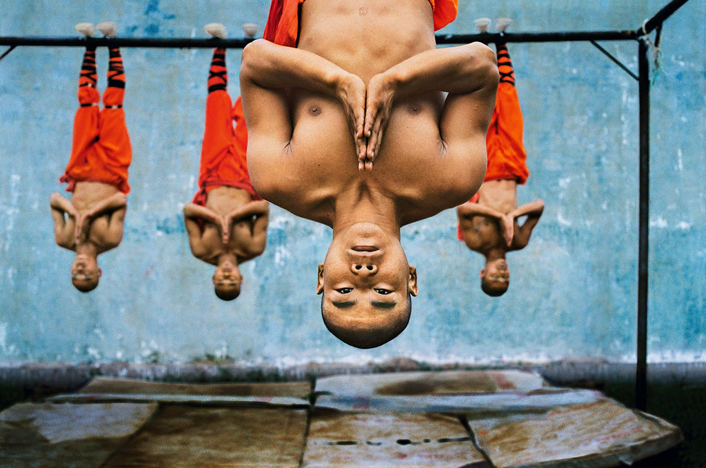 Shaolin monks training. Zhengzhou, China. 2004.