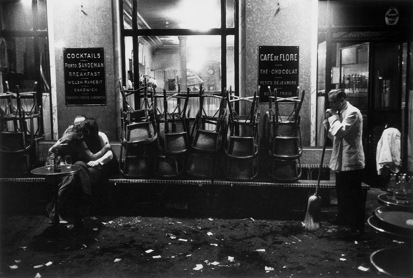 Cafe de Flore. Paris, France. 1958.