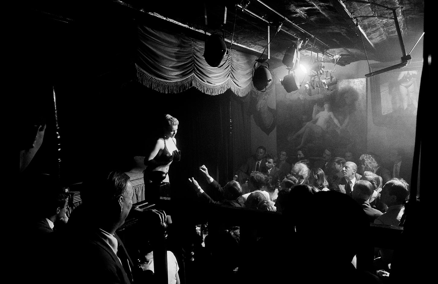 Show at the Crazy Horse night club. Paris, France, 1956.