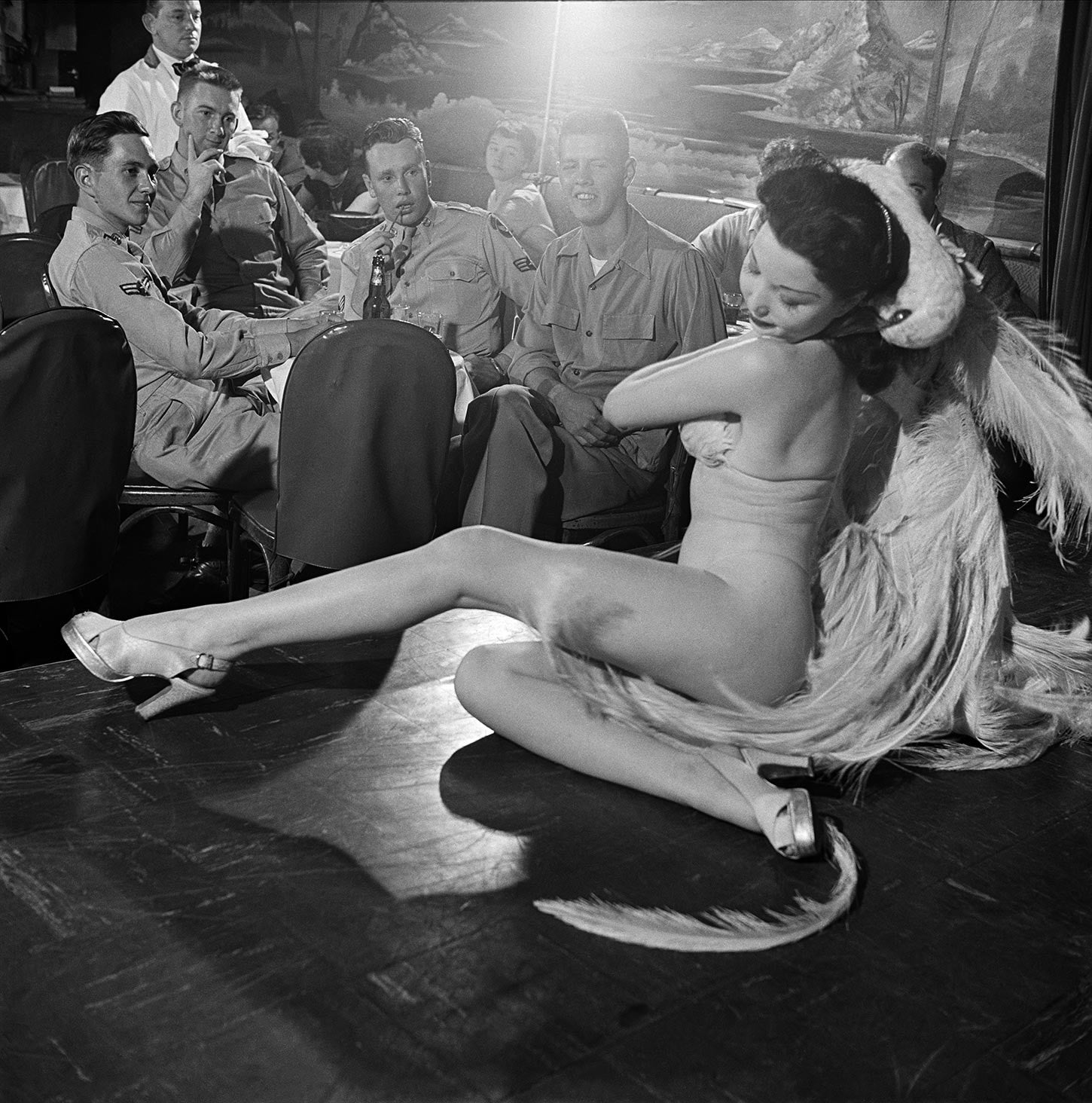 A stripper at Club Samoa. New York City, 1950.