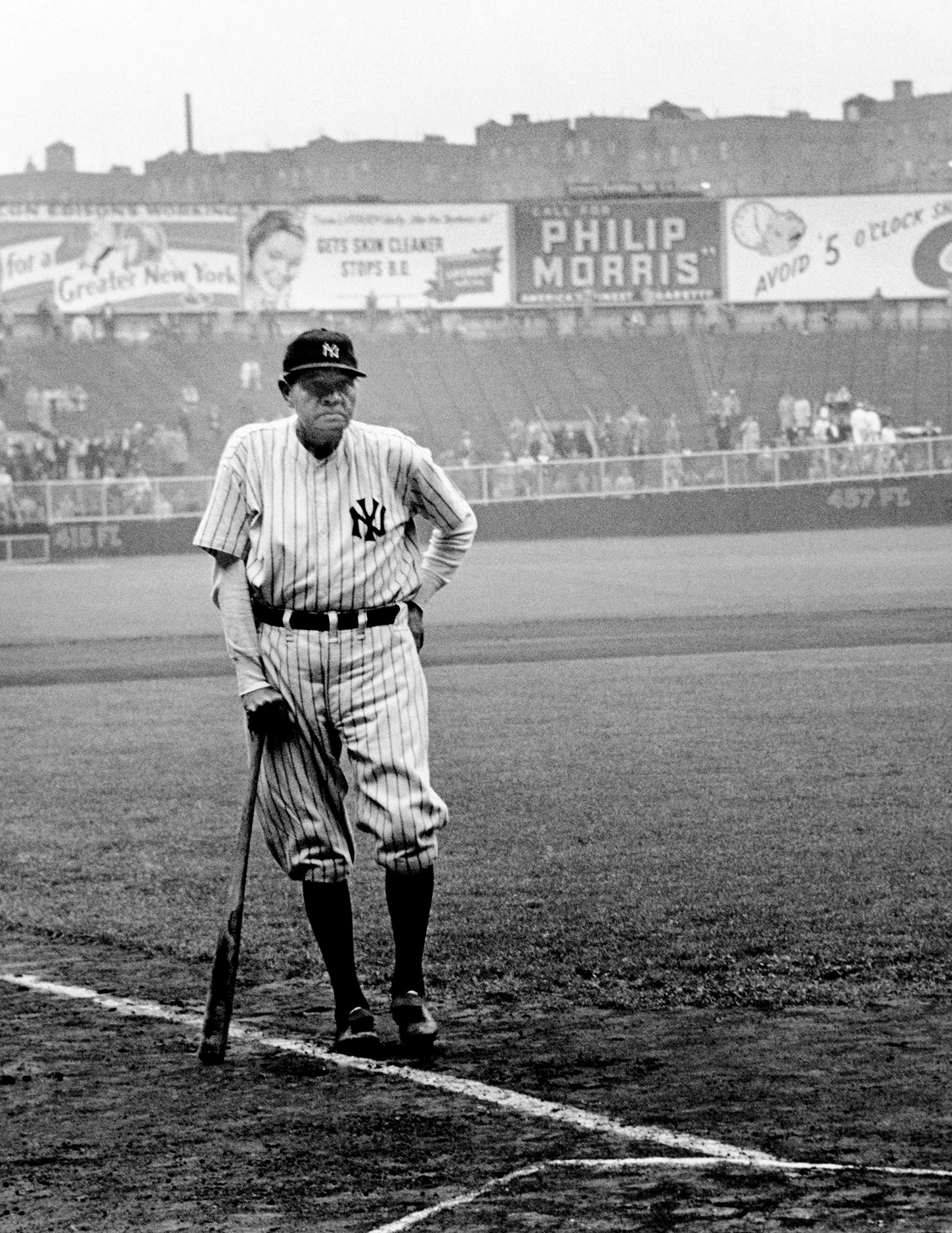Babe Ruth. New York City, USA. June 13, 1948.