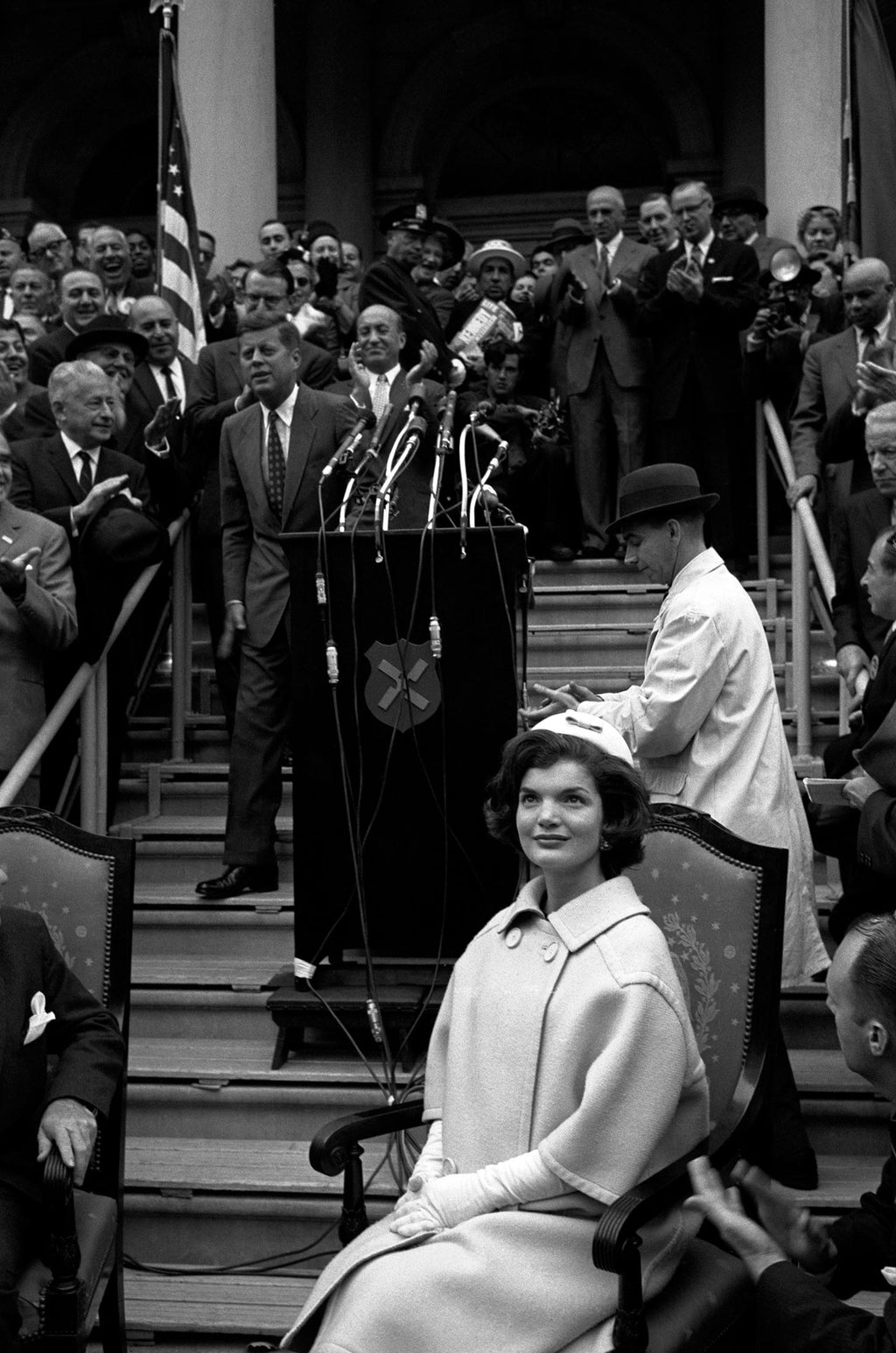 Jacqueline Kennedy on the presidentail campaign with Senator John F. Kennedy. New York City, USA. 1960.