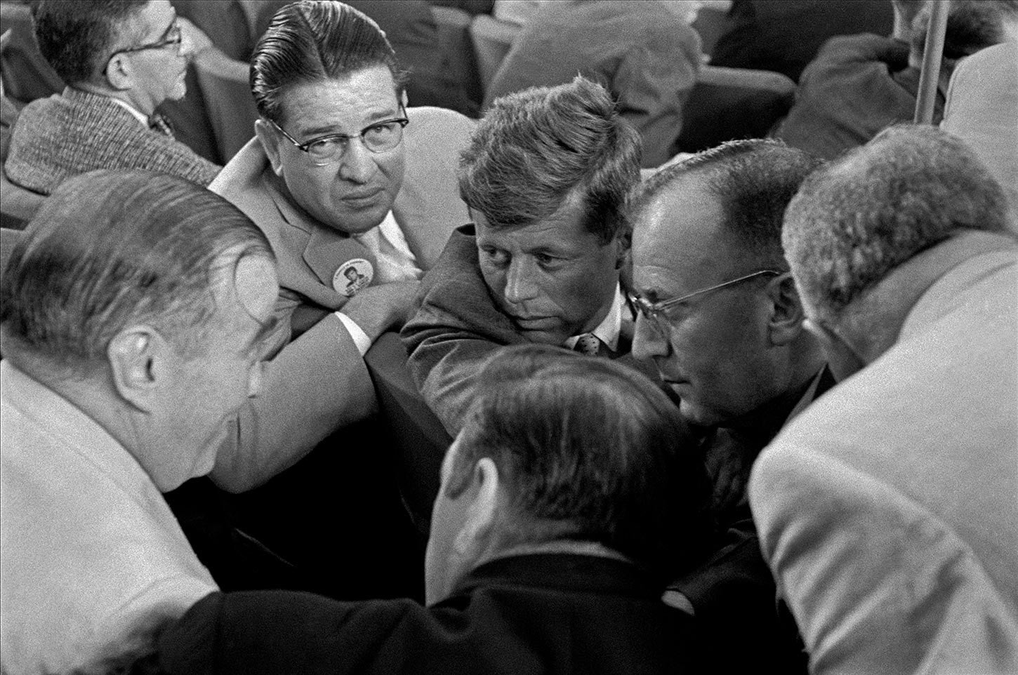 John F. Kennedy at the Democratic Convention in Chicago. 1956.