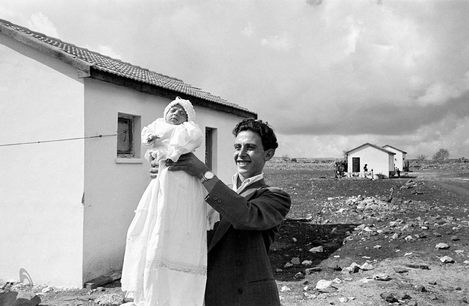 The first child, Alma, Israel, 1951.