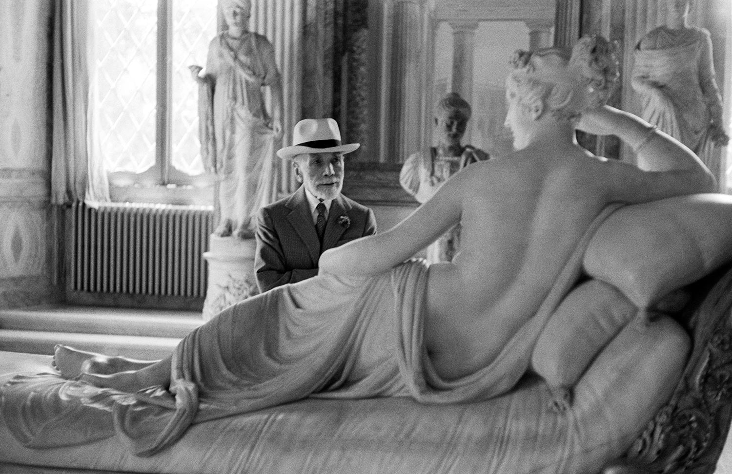 Bernhard Berenson at Ninety, visiting the Borghese Gallery, 1954.