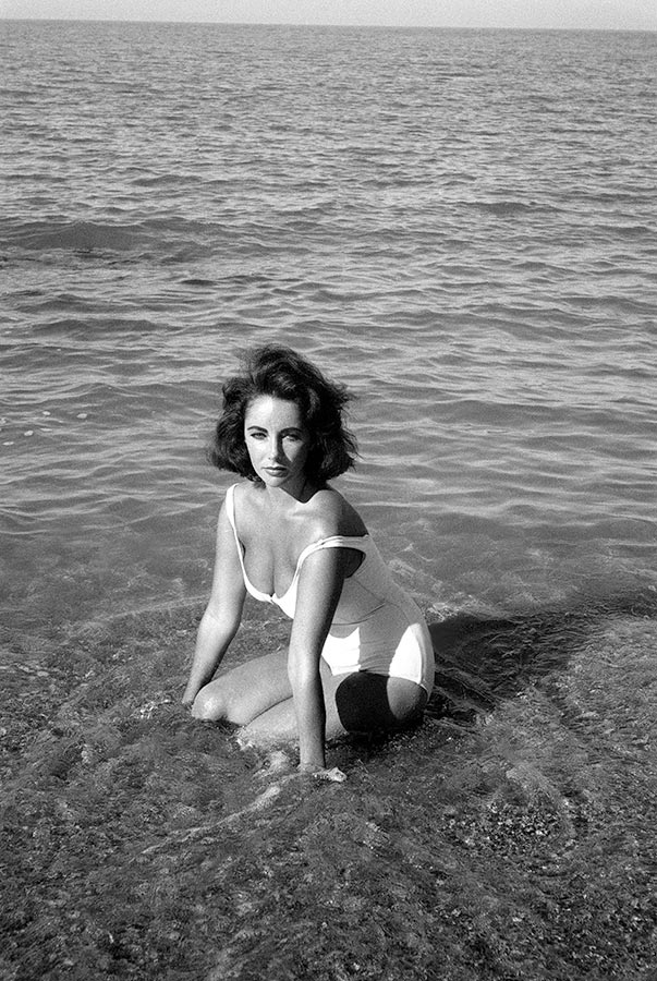 Elizabeth Taylor on the set of Suddenly Last Summer. S'Agaró, Spain. 1959.