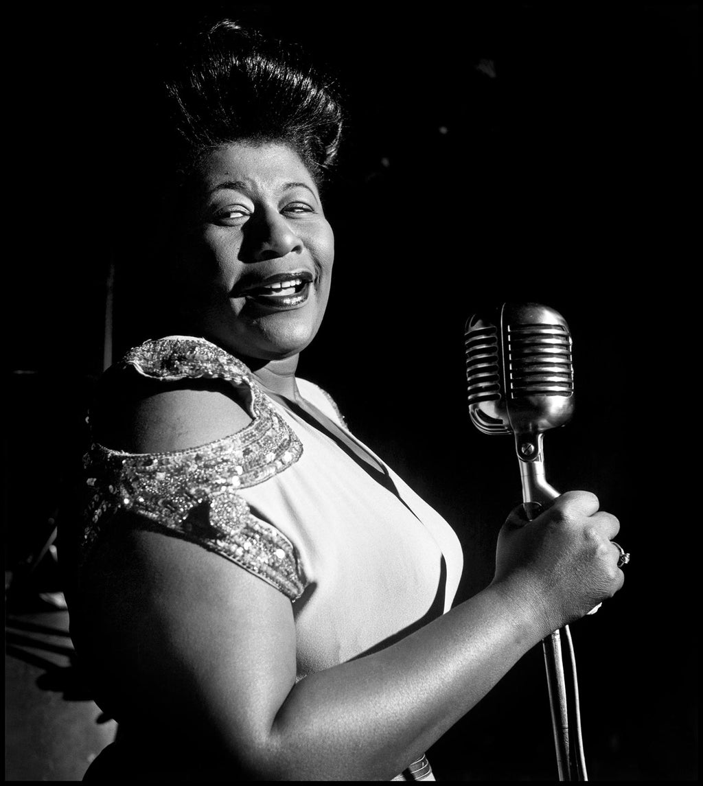 American singer Ella Fitzgerald performing. Chicago, Illinois. USA. 1948.