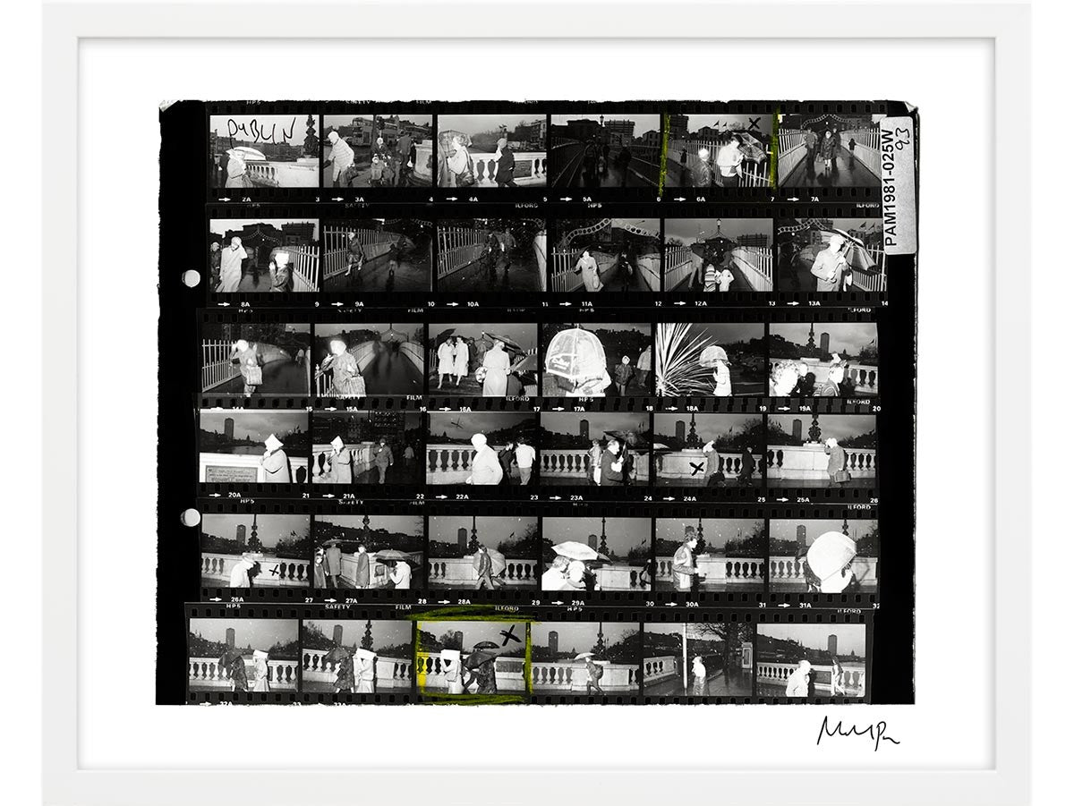 Signed Contact Sheet Print: