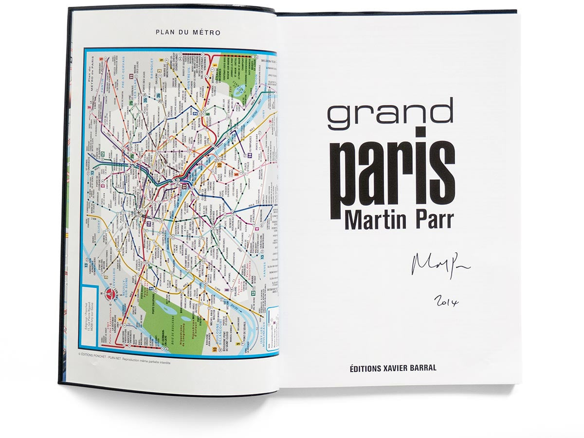 Grand Paris Book Signed by Martin Parr