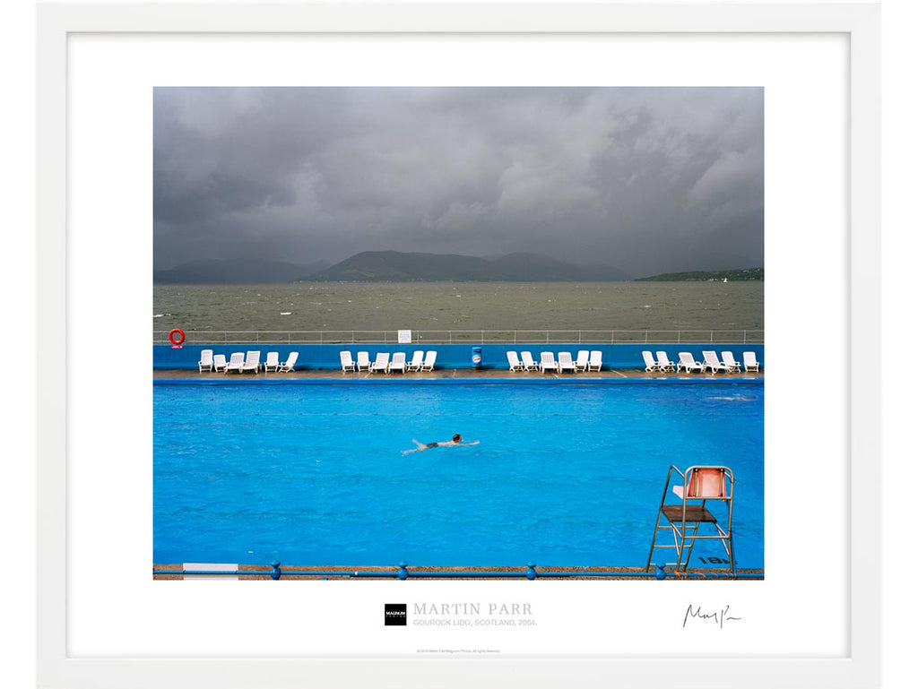 Signed Magnum Collection Poster: Gourock Lido, Scotland. 2004.