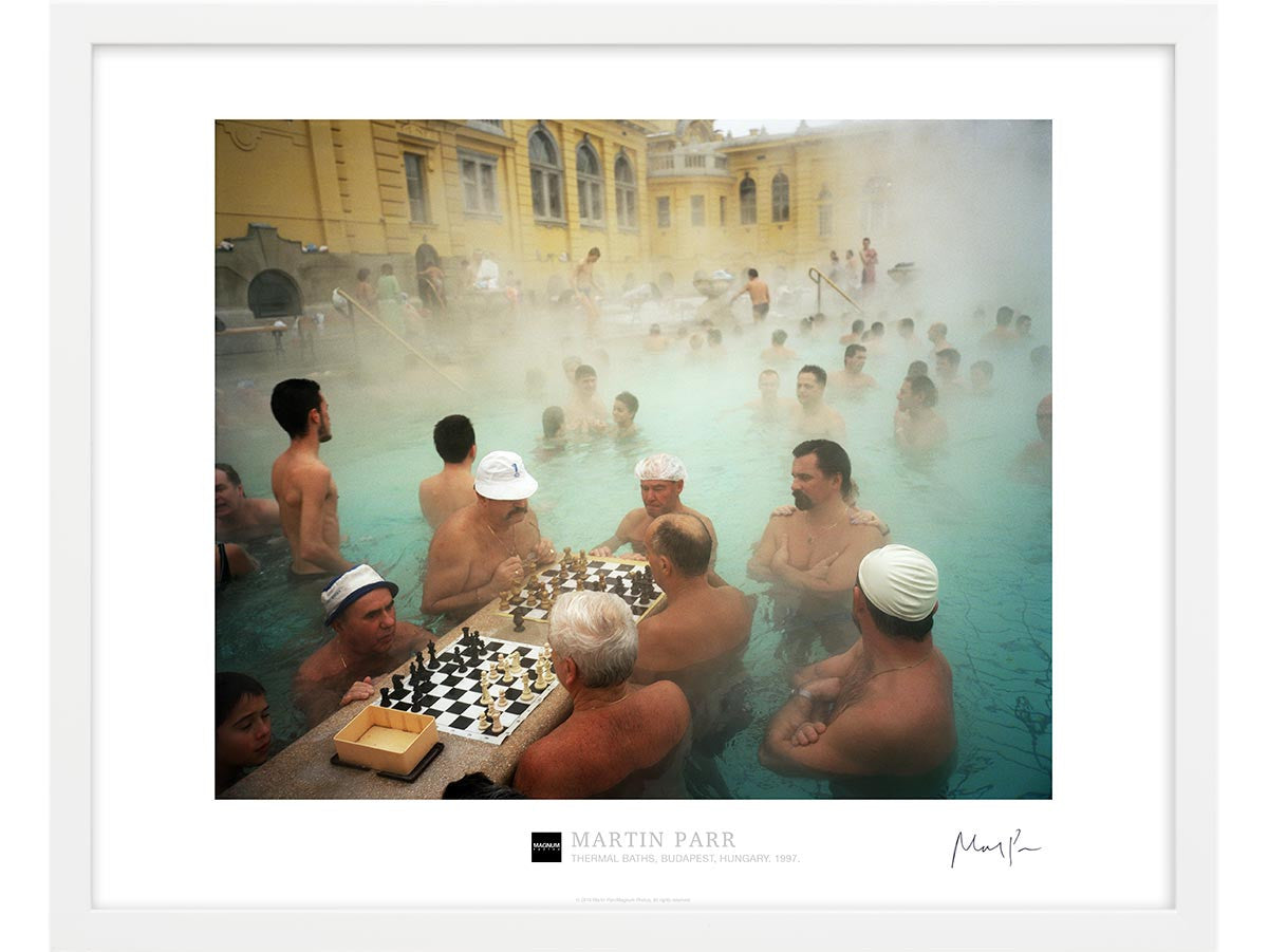 Signed Magnum Collection Poster: Thermal baths, Budapest, Hungary. 1997.