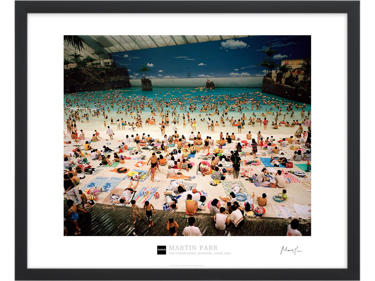 Signed Magnum Collection Poster: The Ocean Dome, Miyazaki, Japan.1996.