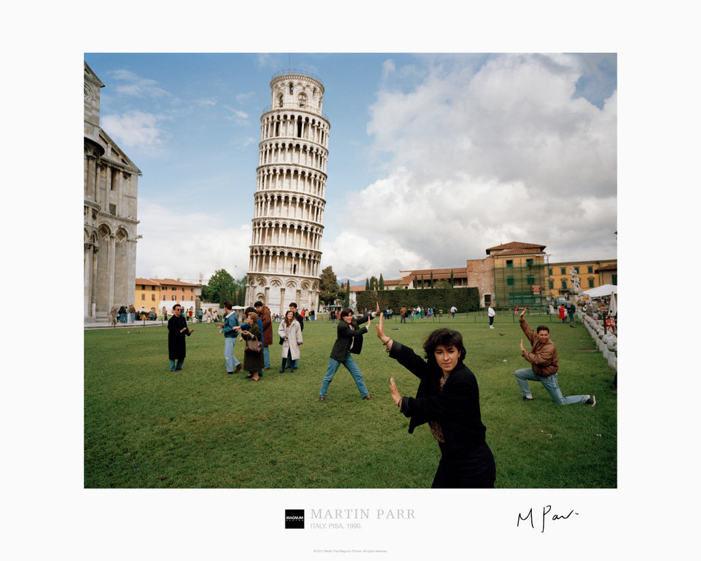 Signed Magnum Collection Poster: Italy. Pisa. 1990.
