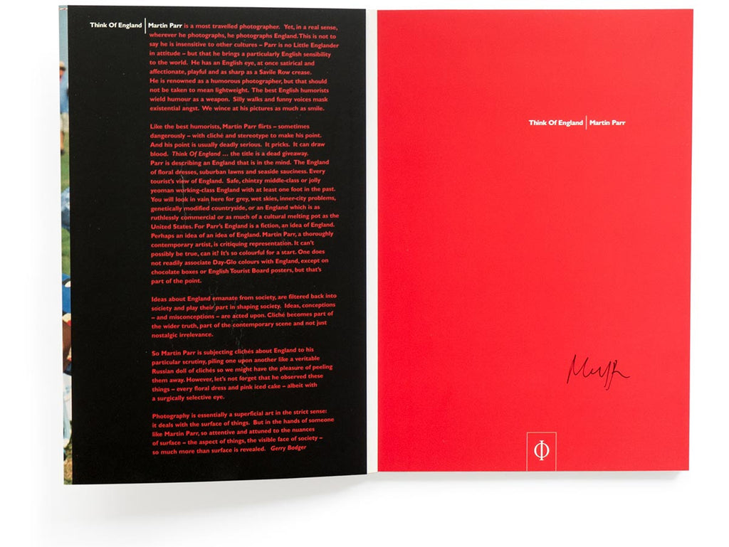 Think of England Book Signed by Martin Parr