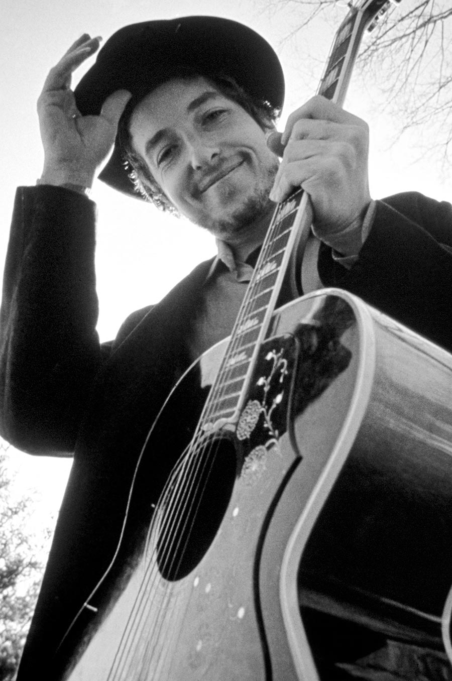 Bob Dylan at his home. Byrdcliffe, New York. 1968.