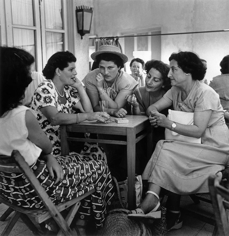 Armon Café, on Hayarkan Street. Israel. May, 1949.