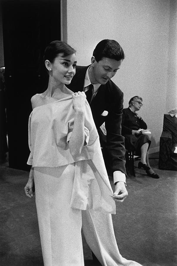 Audrey Hepburn and Hubert de Givenchy. Paris, France. 1956.