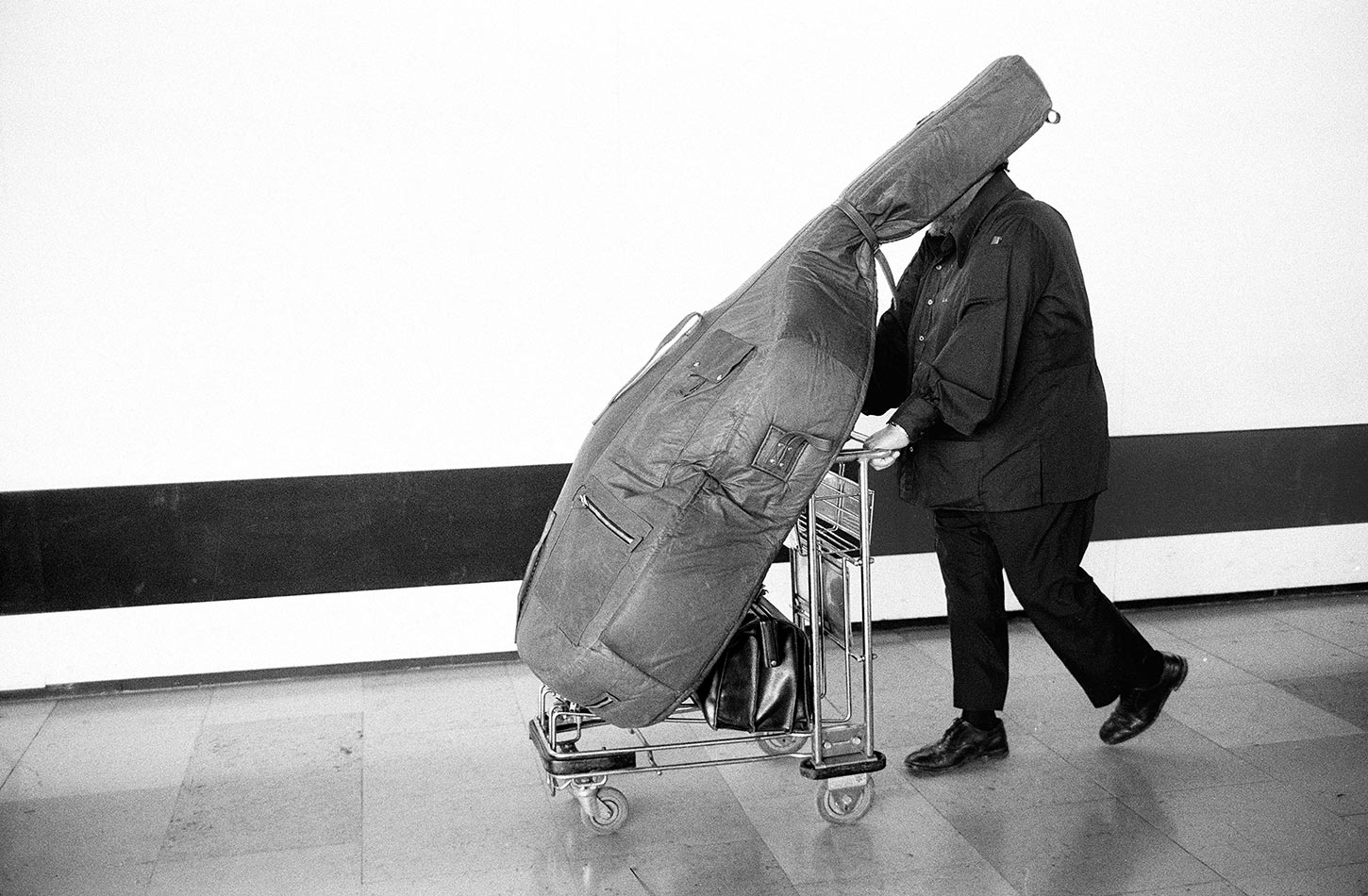 Charles Mingus. Marseille Provence Airport, France. August 19, 1976.