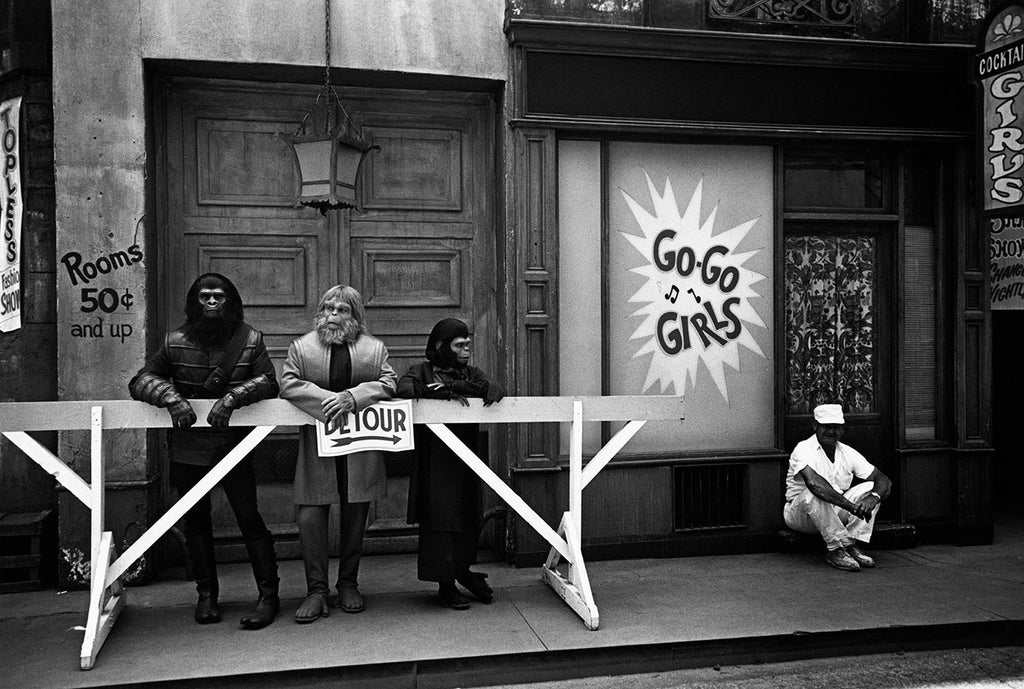 The 20th Century Fox studios during filming of Planet of the Apes. Hollywood, California. 1967.