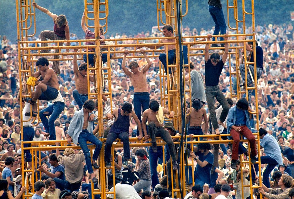 The sound tower at Woodstock. Bethel, New York. 1969.