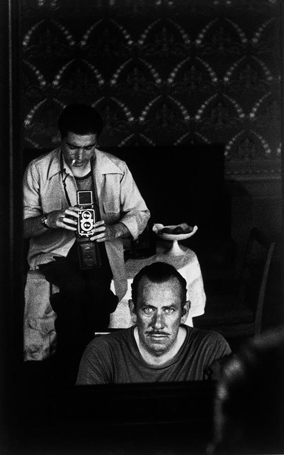 Writer John Steinbeck and Robert Capa. September, 1947.