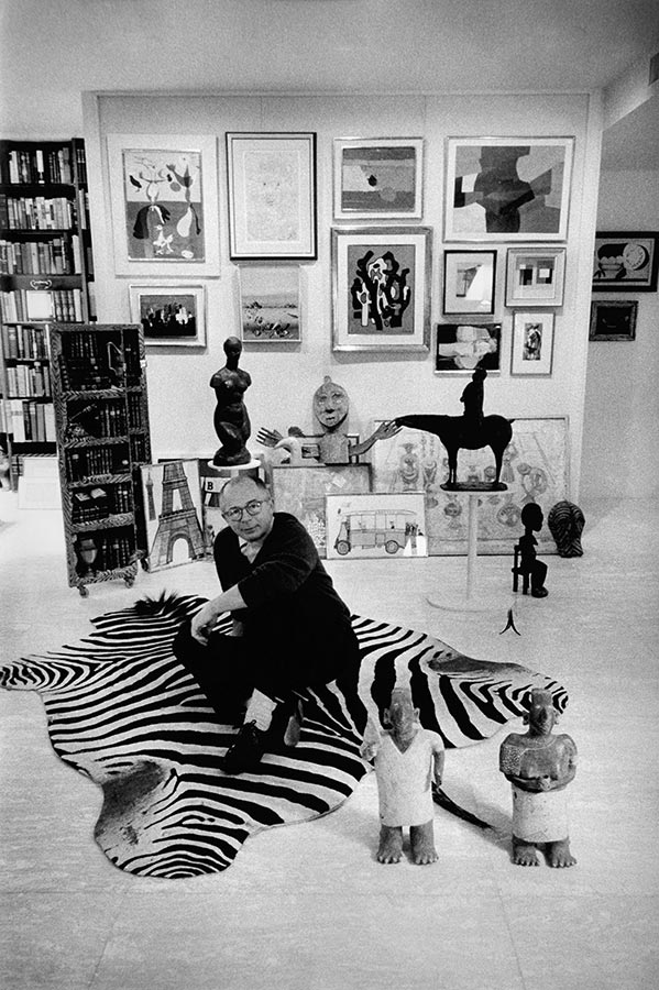 Billy Wilder at home. Los Angeles, California. 1960.