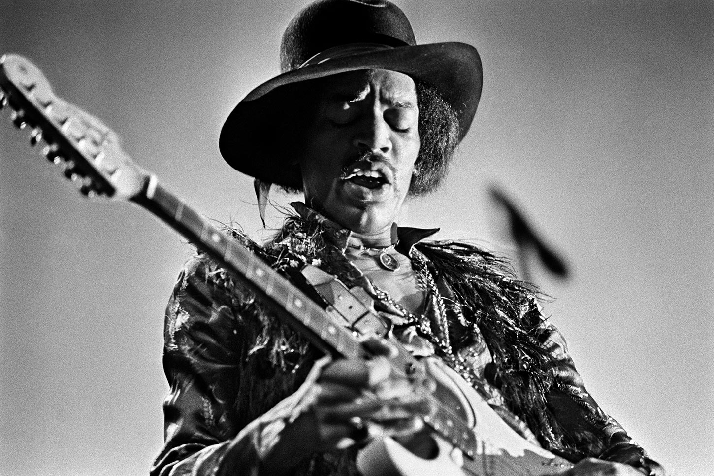 Jimi Hendrix. Fillmore East, New York City. 1968.