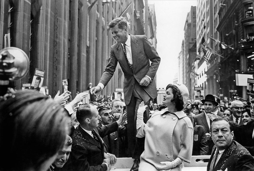 John F. Kennedy campaigning. 1960.