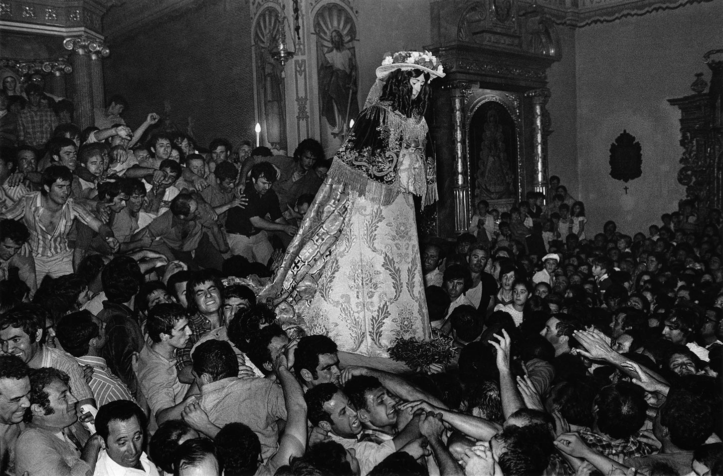 The virgin returns to the temple. Almonte, Spain. 1977.