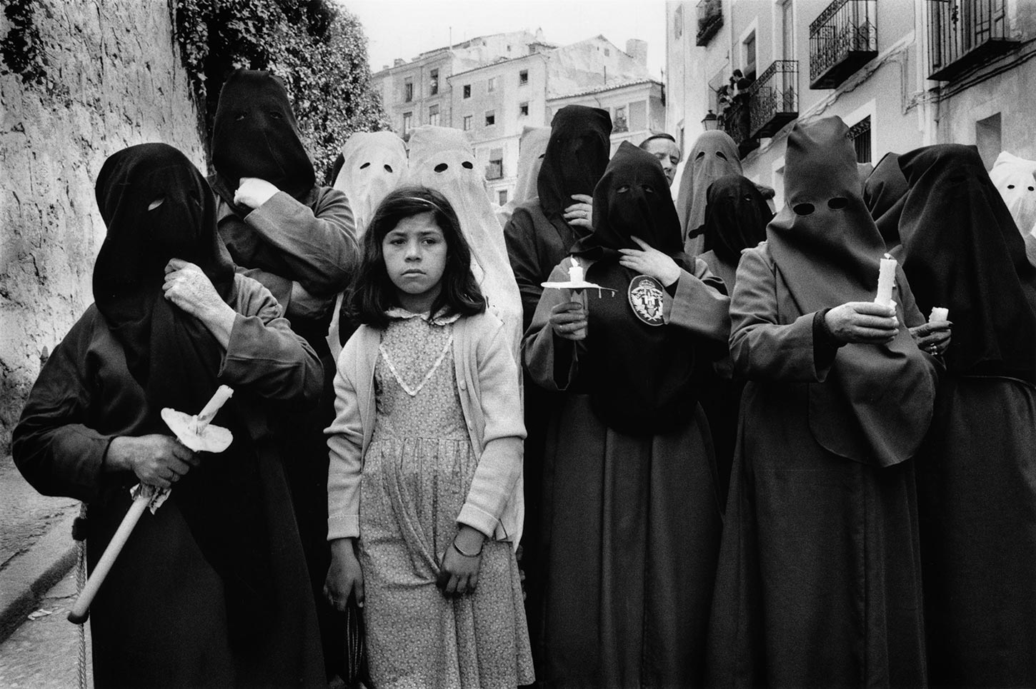 The penitent girl. Cuenca, Spain. 1982.