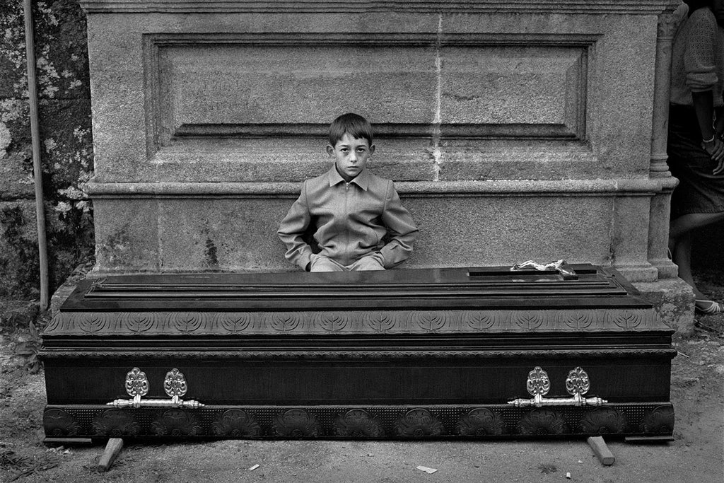 The coffin kid. Galicia, Spain. 1982.