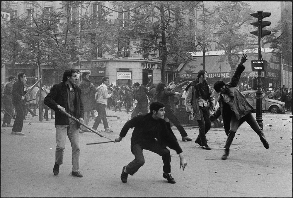 Paris Riots. May 6th, 1968.