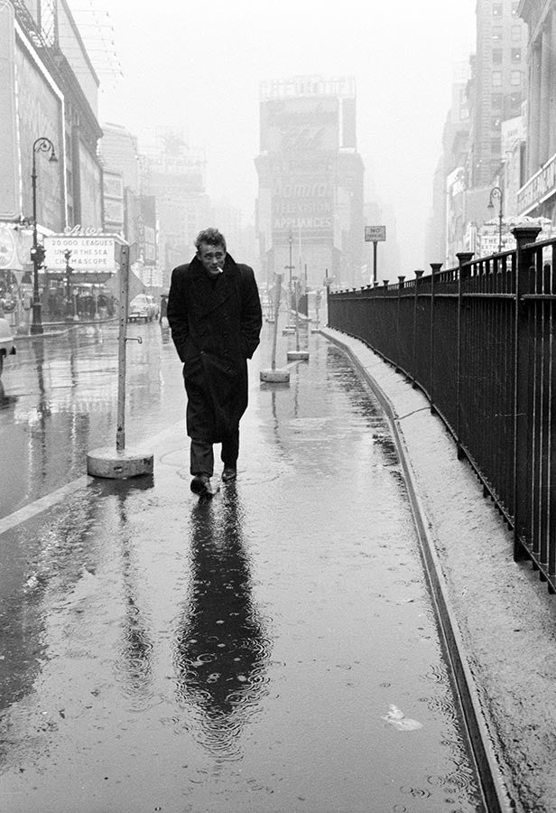 James Dean in New York City, 1955.