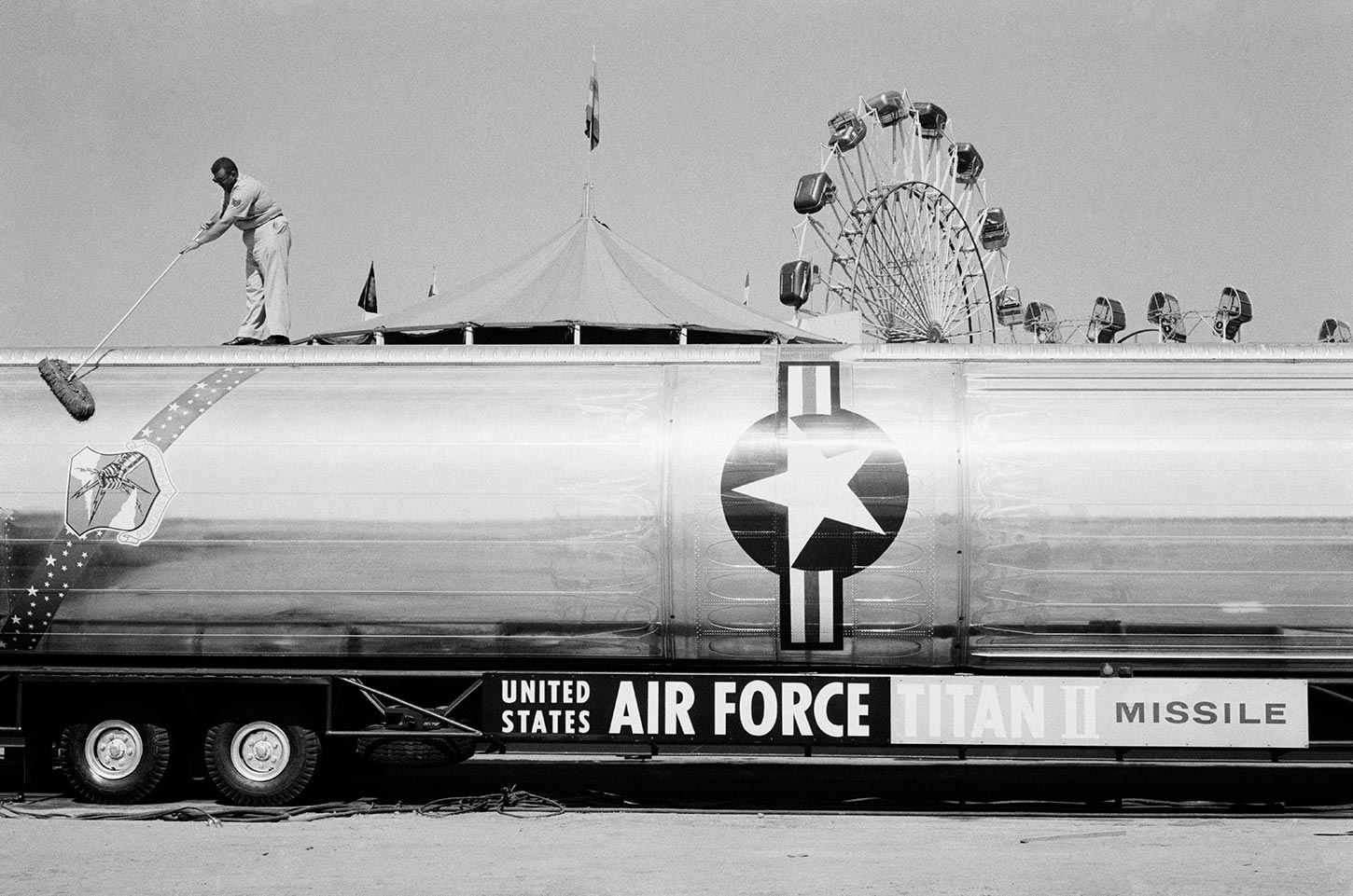 Sacramento Sate Fair, military display. California. 1968.