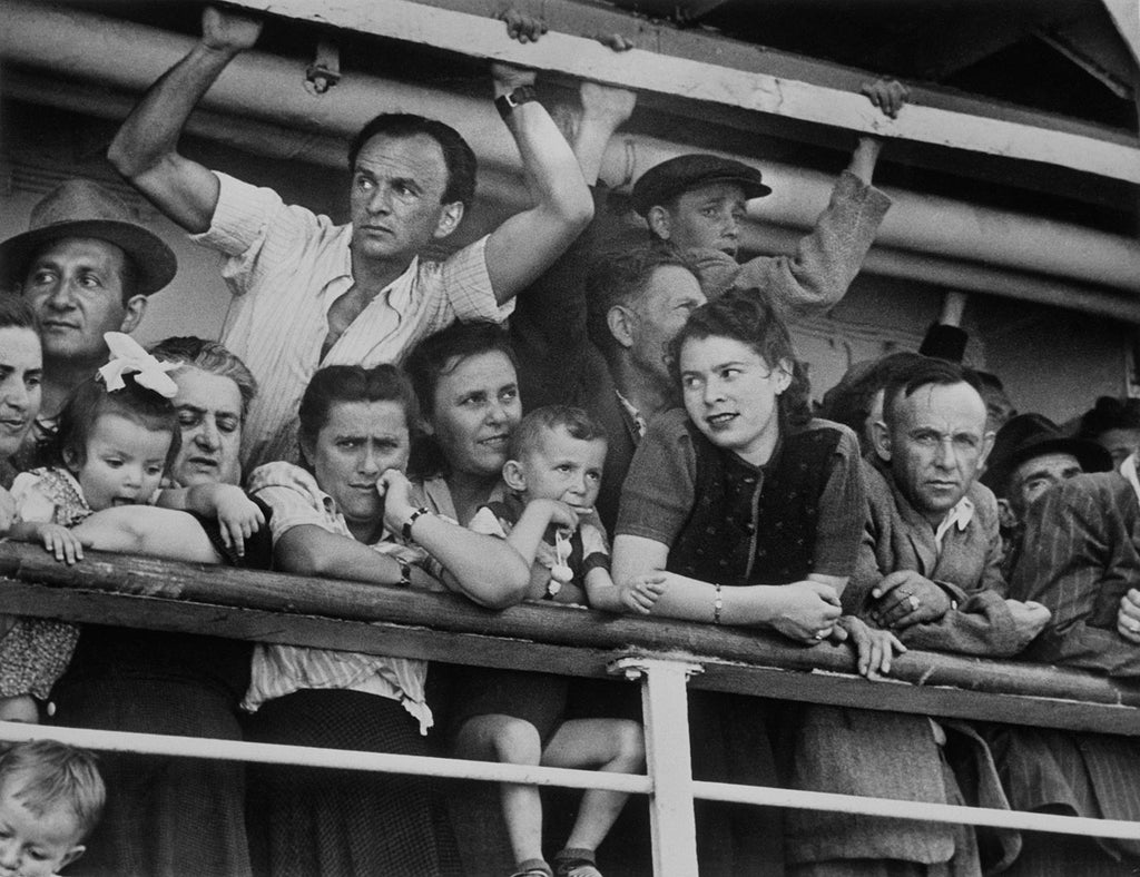 Arrival of immigrants. Israel. 1949.