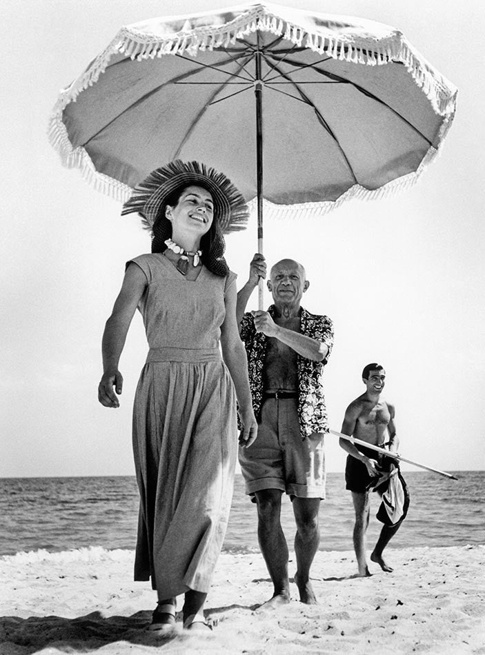 Robert Capa Collectors Print: Pablo Picasso and Françoise Gilot. France. August, 1948.
