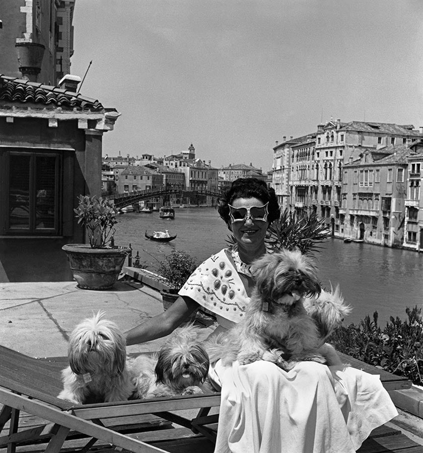 Mrs Peggy Guggenheim in Venice, 1950.