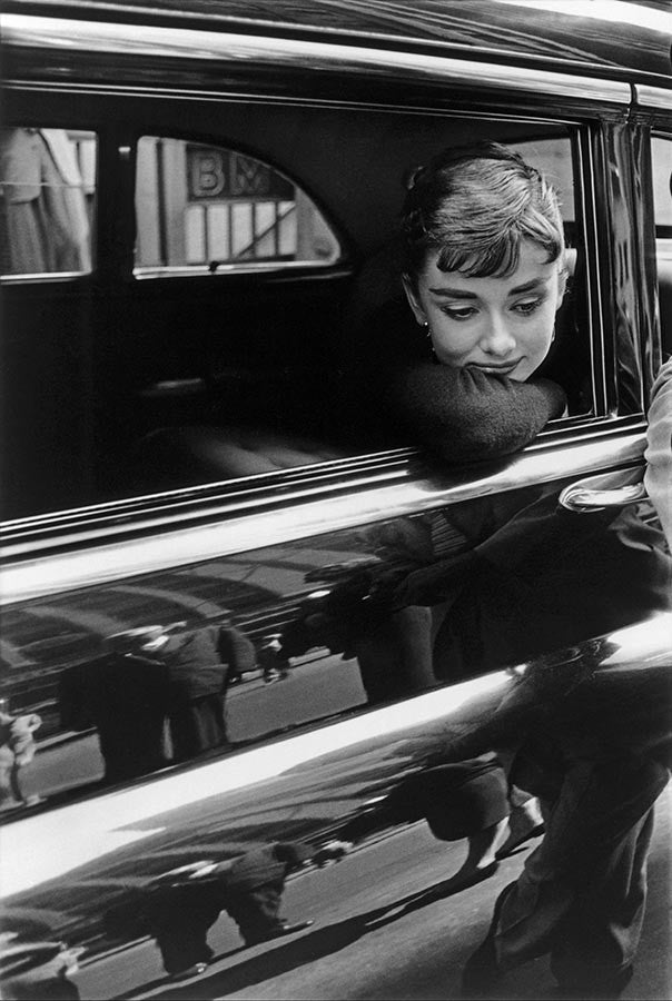 Audrey Hepburn during the filming of