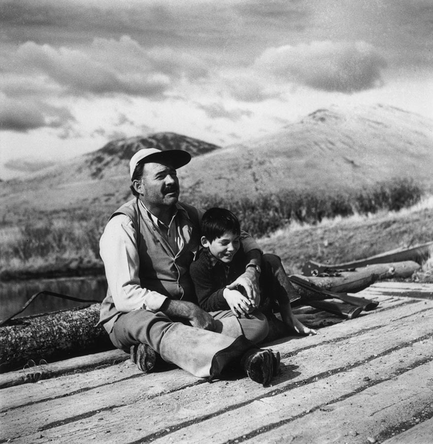 Ernest Hemingway with his son Gregory. Sun Valley, Idaho, USA. October 1941.