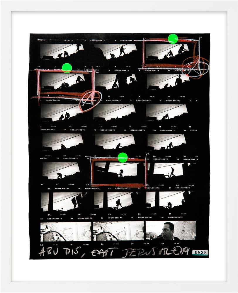 Contact Sheet Print: Silhouettes, East Jerusalem, Palestine, 2003