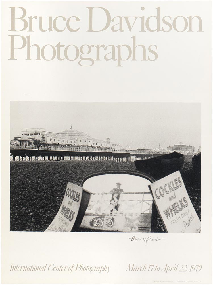 Vintage Poster: Bruce Davidson Photographs - International Center of Photography 1979