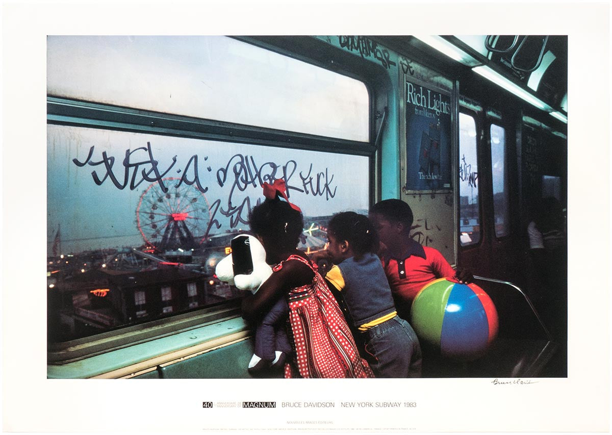 Vintage Poster: 40th Anniversary of Magnum - New York Subway, 1983