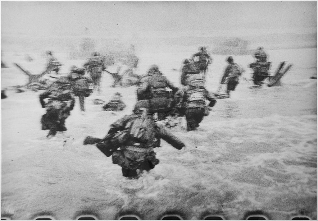 Robert Capa Collectors Print: Omaha Beach during the D-Day landings. France. Normandy. June 6th, 1944.