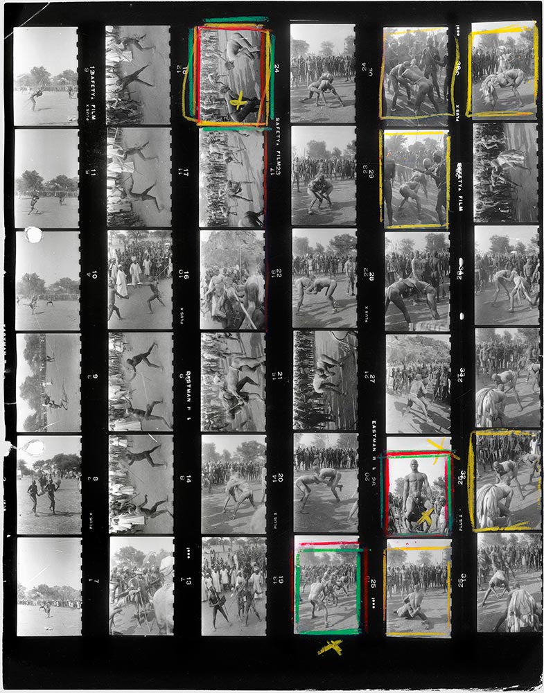 Contact Sheet Print: Nuba tribe, Kordofan, Sudan, 1949