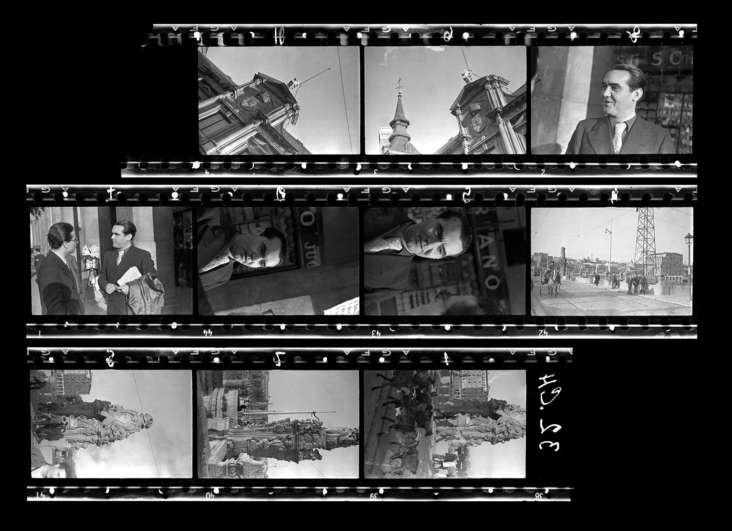 Contact Sheet Print: Spanish Civil War