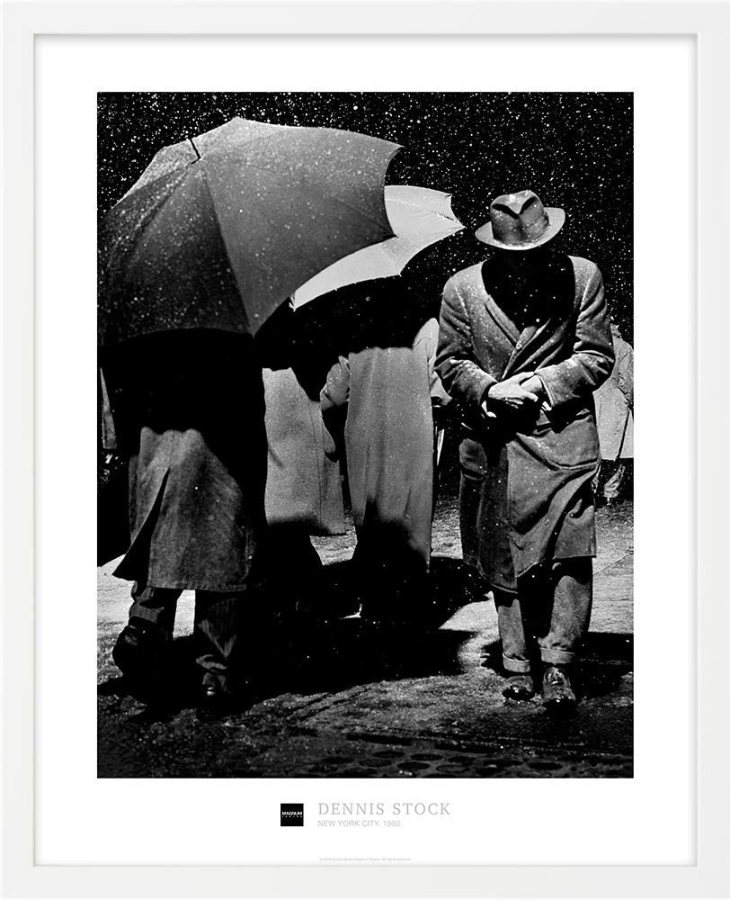 Magnum Collection Poster: Snowstorm. New York City. 1950.